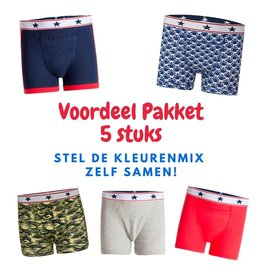 Underwunder Pack of 5 boxers for boys