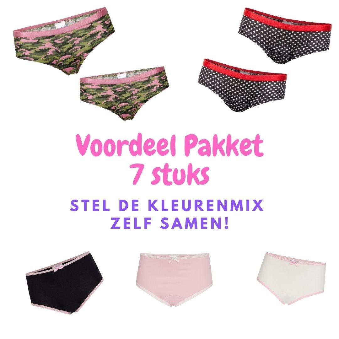 Underwunder Week Pakket van 7x ondergoed. Mix kleuren en modellen zelf te bepalen