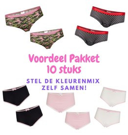 Underwunder Super Pakket van 10x meisjes ondergoed