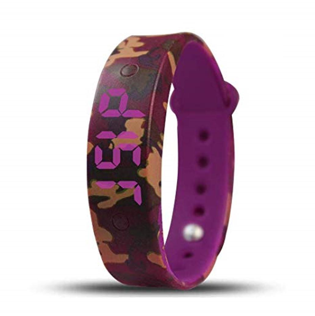 Plashwatch / Medicine watch U15 red camouflage with 15 alarm times
