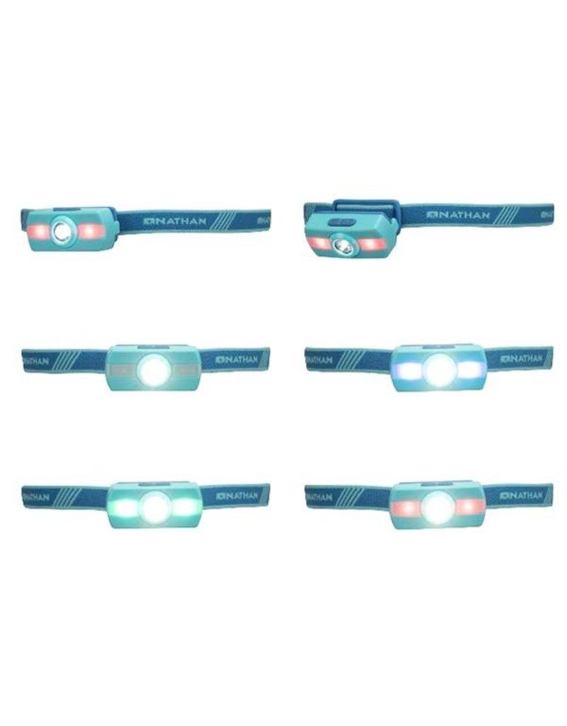Nathan hardloop accessoires Nathan Neutron Fire hoofdlamp - blue
