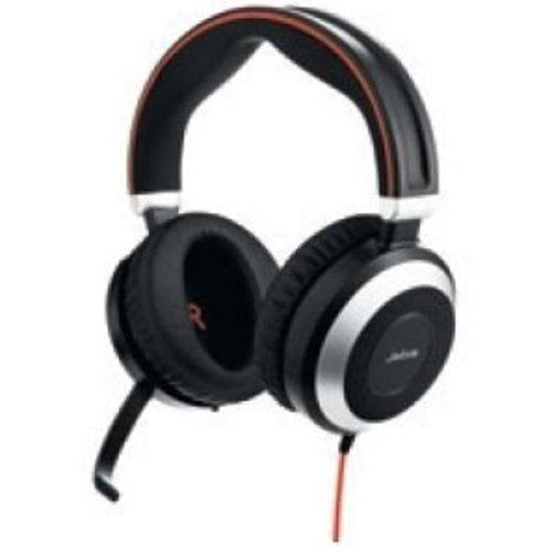 Jabra Jabra Evolve 80 UC Stereo headset met Active Noise Cancellation