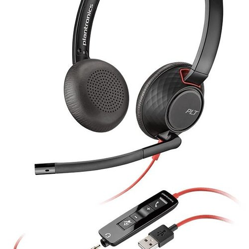 Plantronics Blackwire C5220 Stereo Headset met USB-A en 3,5mm aansluiting