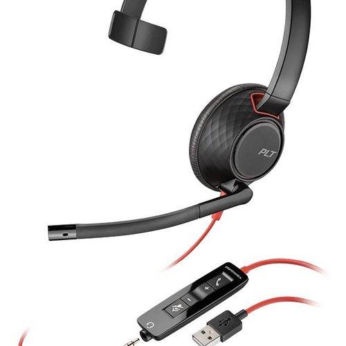 Plantronics Plantronics Blackwire 5210 Headset met USB-A en 3,5mm aansluiting