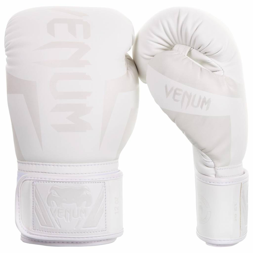 Black//White Venum Elite Boxing Shoes