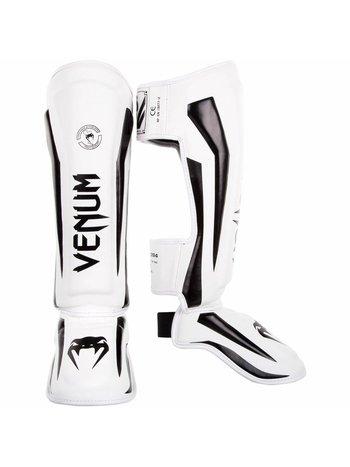 Venum Venum Fight Gear Elite Kickboks Scheenbeschermer Wit Zwart