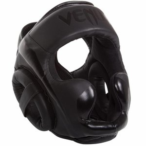 Venum Venum ELITE Headgear Kickboks Hoofdbeschermer Black on Black