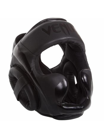 Venum Venum ELITE Headgear Kickboks Hoofdbeschermer Black on Black