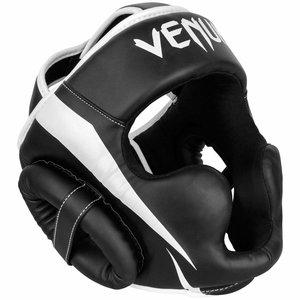Venum Venum ELITE Boxing Sports Headgear Kopfschutz Schwarz Weiss