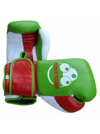 PunchR™  Punch Round™ Champion Bokshandschoenen Leder Groen Rood Wit