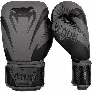 Venum Venum Impact Boxing Gloves Grey Black Venum Kickboxing Gloves