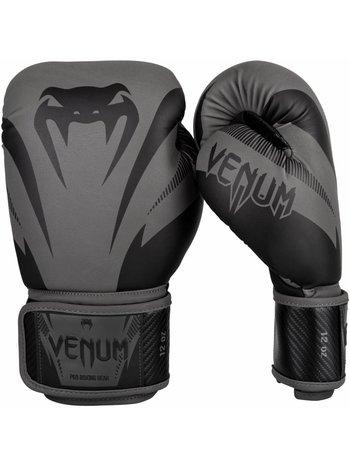 Venum Venum Impact Boxhandschuhe Grau Schwarz Venum Kickboxhandschuhe
