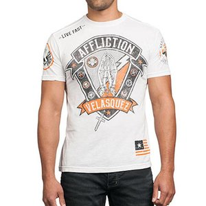 Affliction Clothing Affliction Cain Velasquez Devotion T Shirt UFC 160 White
