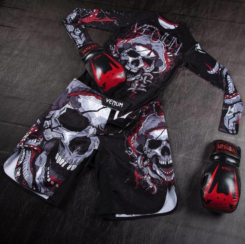 Black//Red Venum Pirate 3.0 Long Sleeve Rashguard