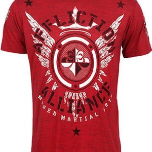 Affliction Clothing Affliction Alliance MMA Gym T Shirt Red MMA Clothing