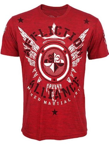 Affliction Clothing Affliction Alliance MMA Gym T Shirt Red MMA Kleding