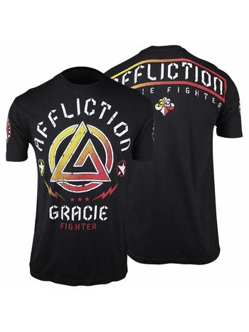 Affliction Clothing Affliction Gracie Fighter T Shirt Black UFC MMA Kleding