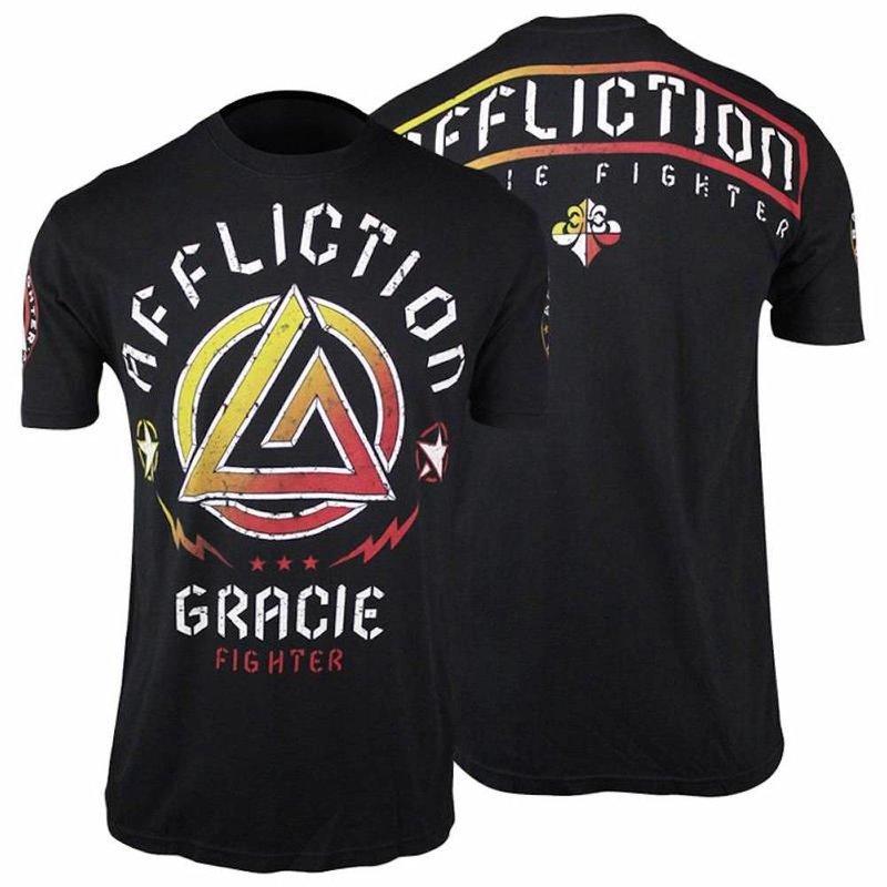 Affliction Clothing Affliction Gracie Fighter T Shirt Black UFC MMA Kleding