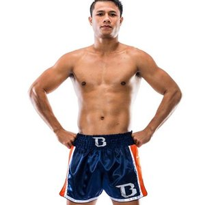 Booster Booster Kickboxing Shorts TBT Pro 4.37 Blue Orange Thaiboxing Short