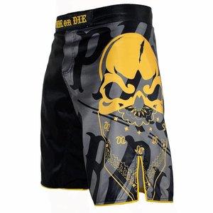Pride or Die PRIDEorDIE MMA Fightshorts Reckless Black Yellow