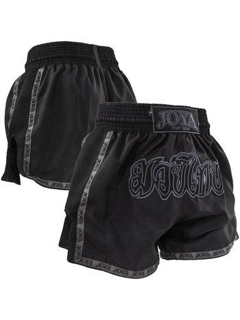 Joya Fight Wear JoyaKickboxing Shorts Faded Black Mesh Muay Thai Shorts