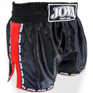 Joya Fight Wear Joya ThaiboksShorts Zwart Rood Mesh Joya Fightstore