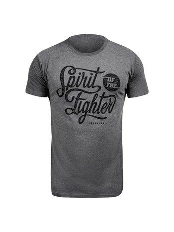 Hayabusa Hayabusa Spirit of the Fighter T Shirt Grijs Vechtsport Shirt