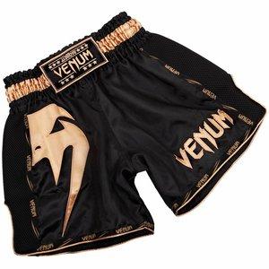 Venum Venum Kickboks Broekje Giant Zwart Goud Muay Thai Shorts
