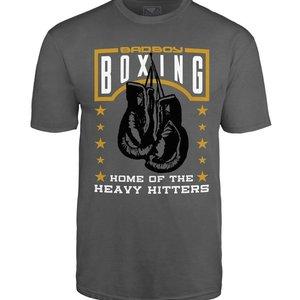 Bad Boy Bad Boy Heavy Hitter T Shirt Grey Boxing T shirts