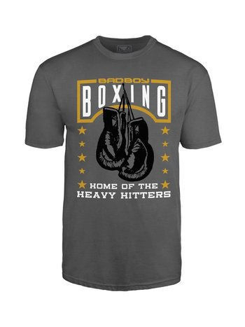 Bad Boy Bad Boy T Shirt Heavy Hitter T-Shirt Grau Boxing Club