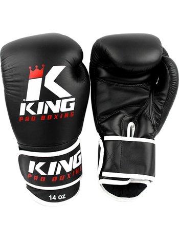King Pro Boxing King Pro Boxing Kickboks Handschoenen Zwart KPB/BG 3 Leder