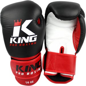 King Pro Boxing King Pro Boxing KPB Boxing Gloves Black Red KPB/BG 1 Leather