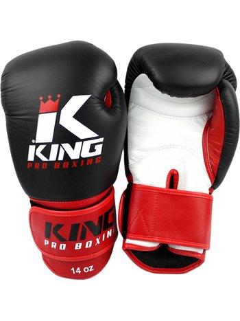 King Pro Boxing King Pro Boxing Bokshandschoenen Zwart Rood KPB/BG 1 Leder