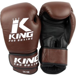 King Pro Boxing King Pro Boxing KPB Boxing Gloves Brown KPB/BG 4 Leather
