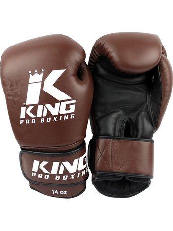 King Pro Boxing King Pro Boxing Bokshandschoenen Bruin KPB/BG 4 Leder