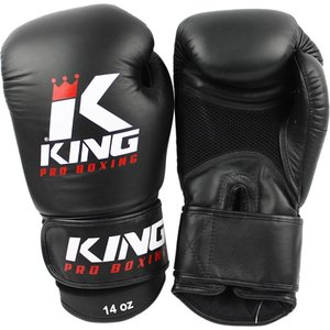 King Pro Boxing King Pro Boxing Mesh Boxing Gloves Black KPB/BG Air Leather