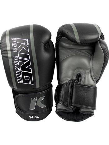 King Pro Boxing King Pro Boxing Boxhandschuhe Schwarz Grau KPB/BG Elite 1