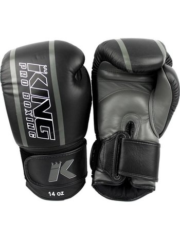 King Pro Boxing King Pro Boxing (Kick)BoksHandschoenen Zwart Grijs KPB/BG Elite 1