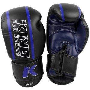 King Pro Boxing King Pro Boxing KPB/BG Elite 2Boxing Gloves Black Blue Leather