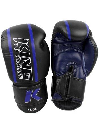 King Pro Boxing King Pro Boxing Boxhandschuhe Schwarz Blau KPB/BG Elite 2