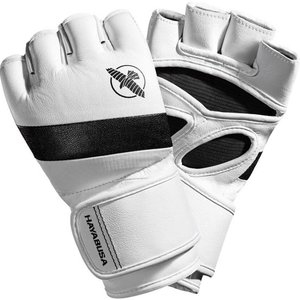 Hayabusa Hayabusa T3 4OZ MMA Gloves White Black MMA Shop Europe