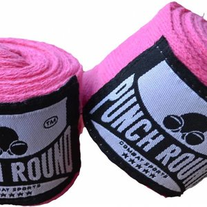 Punch Round™  Punch Round™ HQ Roze Boksbandage Hand Wraps No Stretch 260 cm