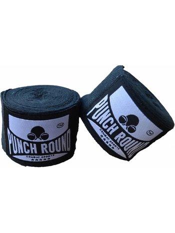 PunchR™  Punch Round™ HQBandage Zwart Hand Wraps No Stretch 400 cm
