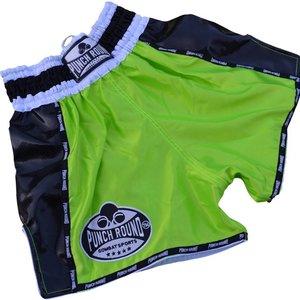 Punch Round™  Punch Round Thaiboks Broekjes Carbon Neon Green Muay Thai Shorts