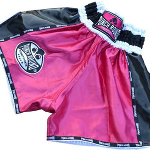Punch Round™  Punch Round Ladies Thai Boxing Shorts Pink Carbon Muay Thai Shorts