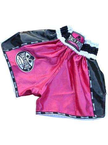 PunchR™  Punch Round Kickboks Broekjes Dames Carbon Roze Muay Thai Shorts