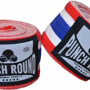 Punch Round™  Punch Round ™ Perfect Stretch Hand Wraps Thai Flag Nylon 460 cm
