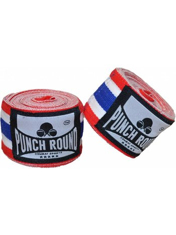 PunchR™  Punch Round™ Perfect Stretch Thai Flag Nylon Bandages 460 cm