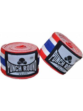 PunchR™  Punch Round™ Perfekte Stretch Nylon Thai Flag Boxbandagen 460 cm