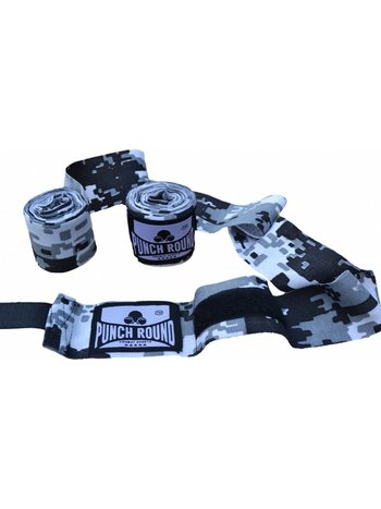 PunchR™  Punch Round™ Perfect Stretch Camo Hand Wraps Bandages 460 cm